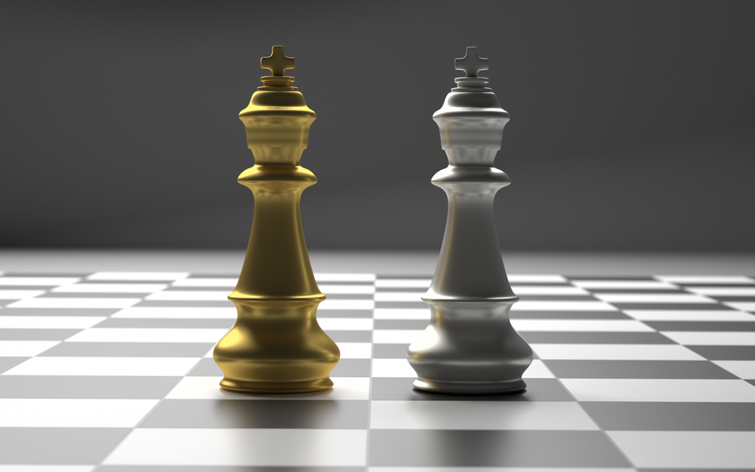 Chess Pieces representing trade wars